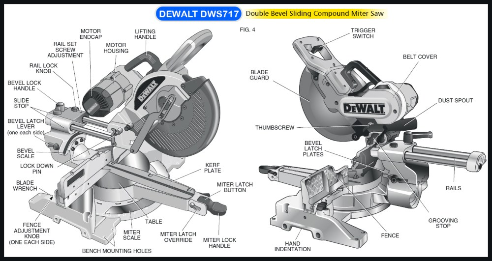 medium resolution of dewalt dws709 miter saw diagram large