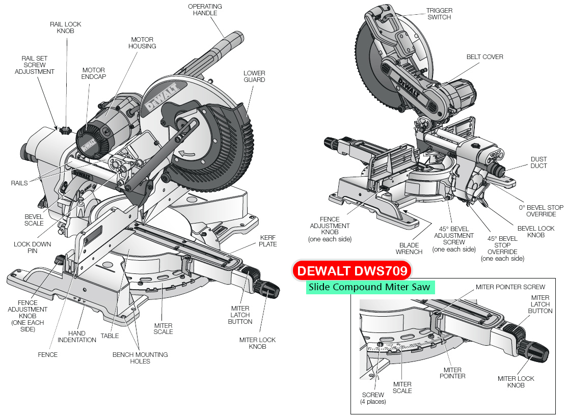 hight resolution of dewalt dws709 miter saw diagram small