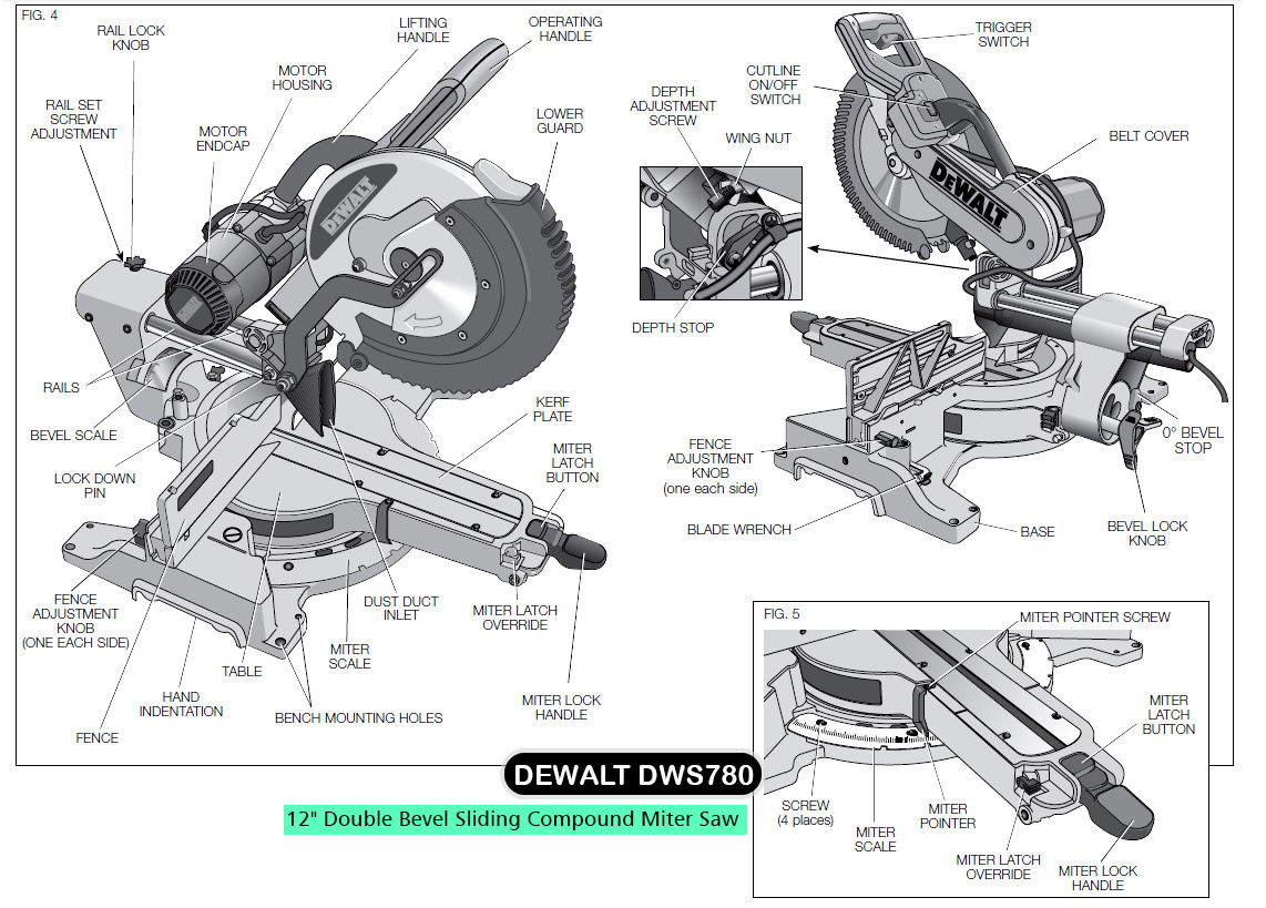 dewalt table saw parts diagram winch wiring two solenoid best sliding compound miter rated models