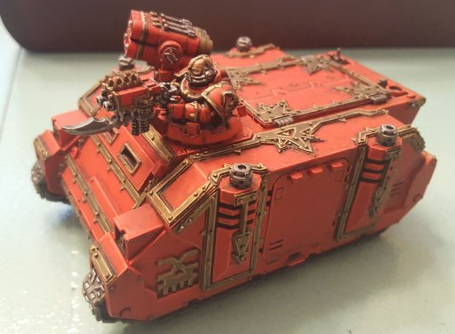 Khorne Rhino completed, front angle