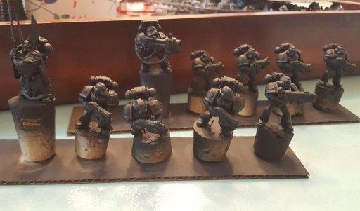 Dark Angels, first squad, primed