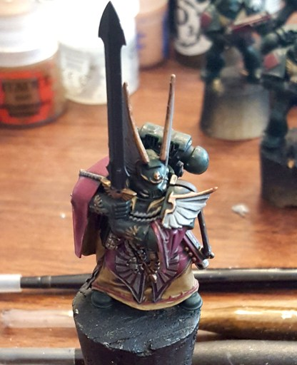 Dark Angels Company Master, shaded