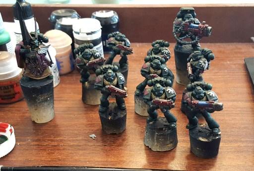 Dark Angels squad, shaded
