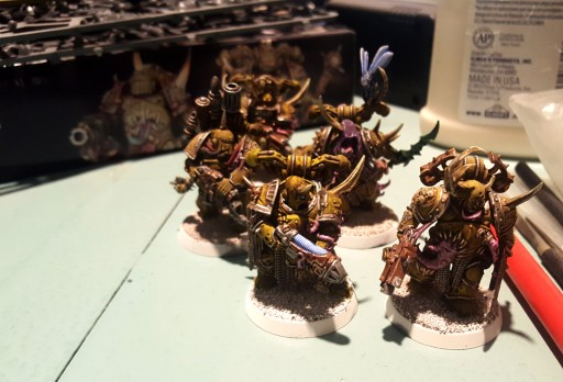 Plague Marines without highlights