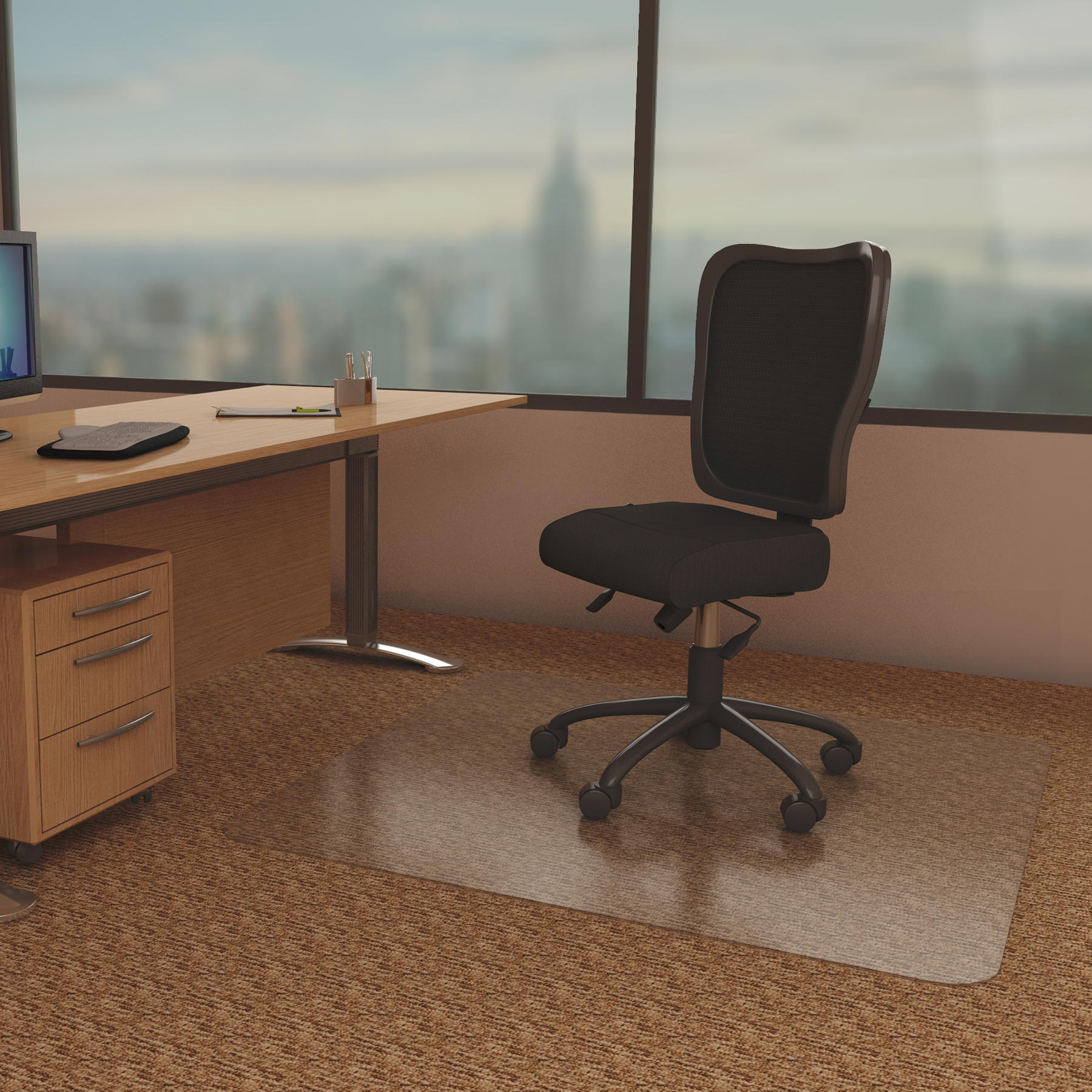 AnchorMat 145 Best Chair Mat for Low Pile Carpet  Chair