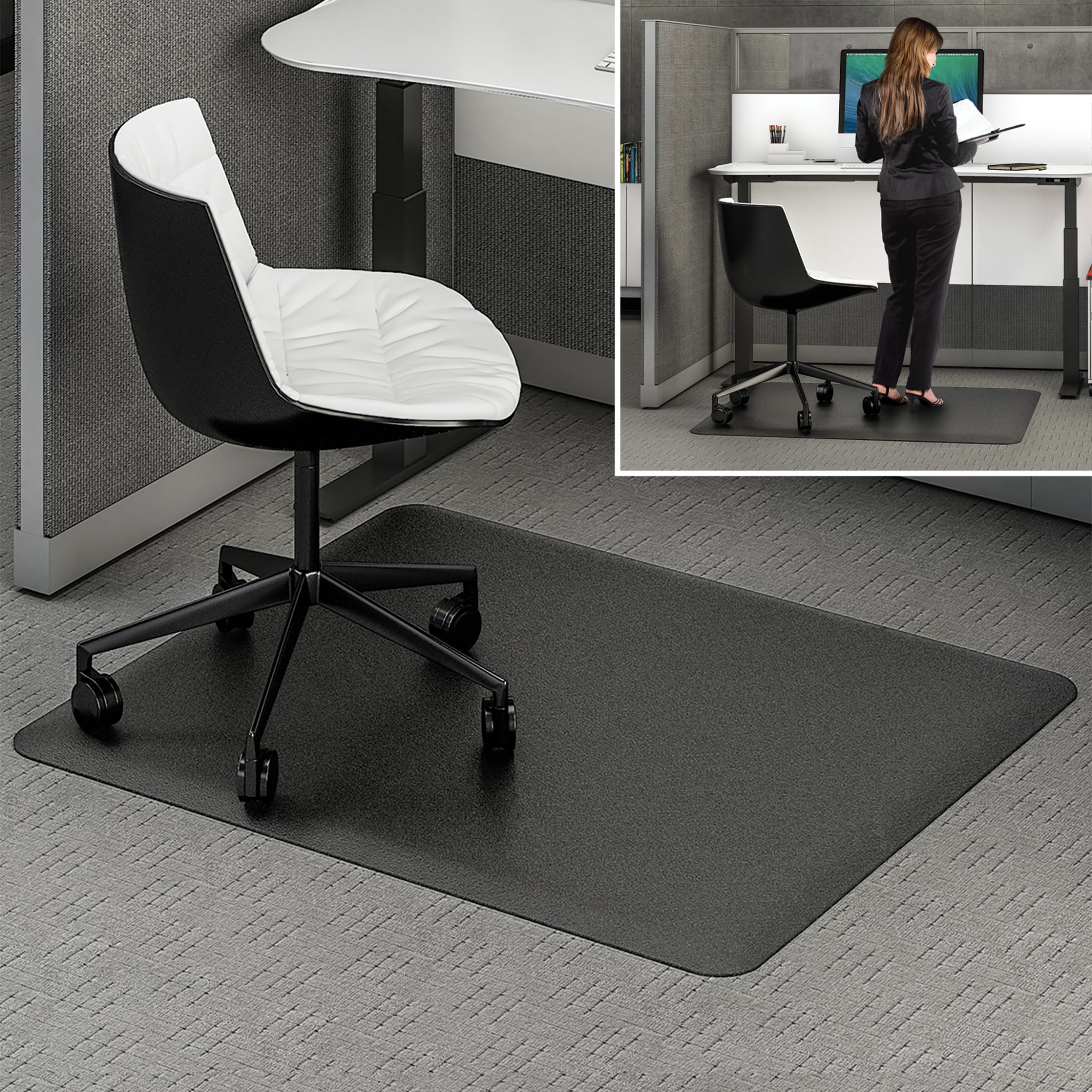 office chair mat 45 x 60 chippendale style chairs ergonomic sit stand | chair-mats.com