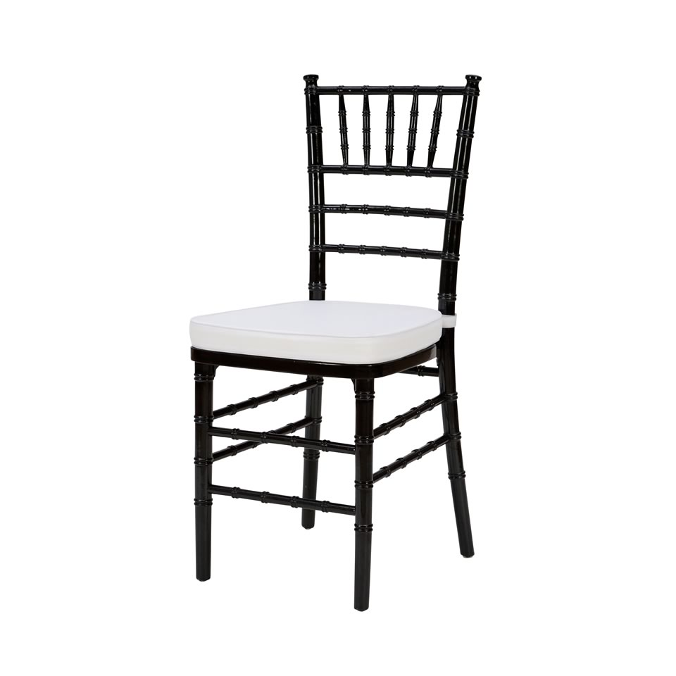 white cushion chair steel wwe gif seating a affair inc core black chiavari