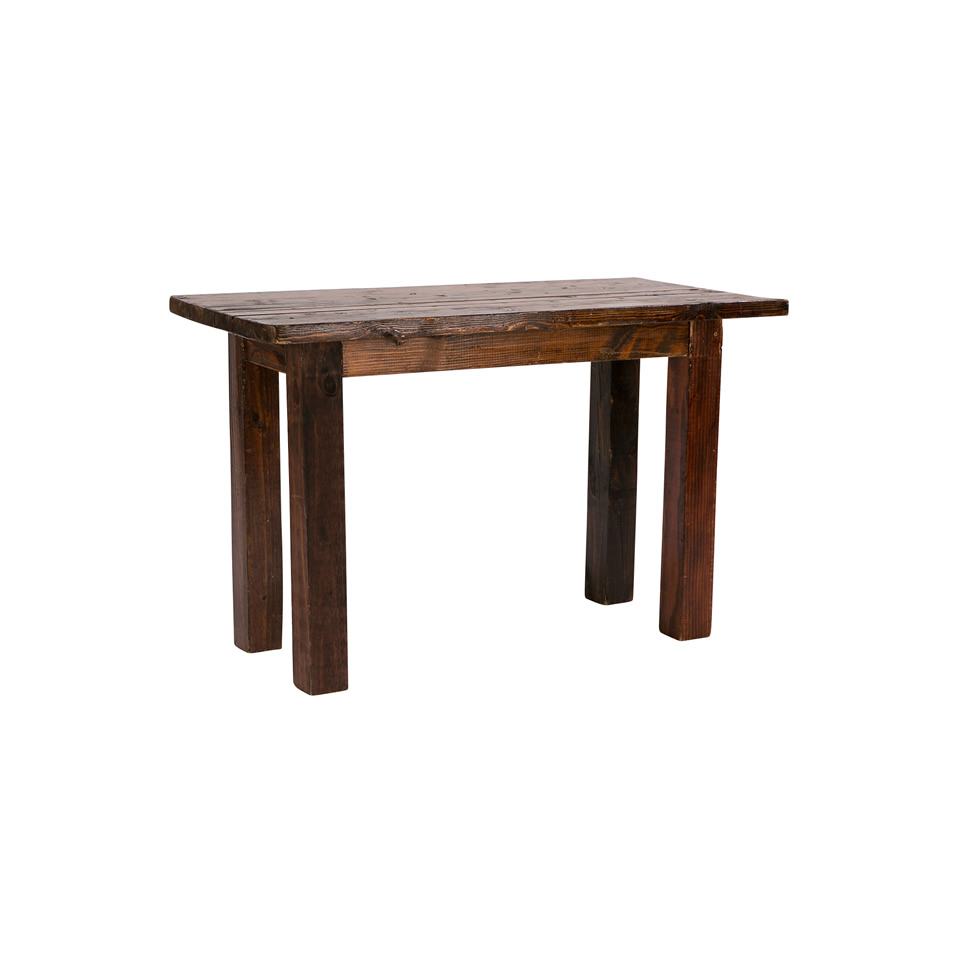 2X4 Mahogany Sweetheart Table  A Chair Affair Inc