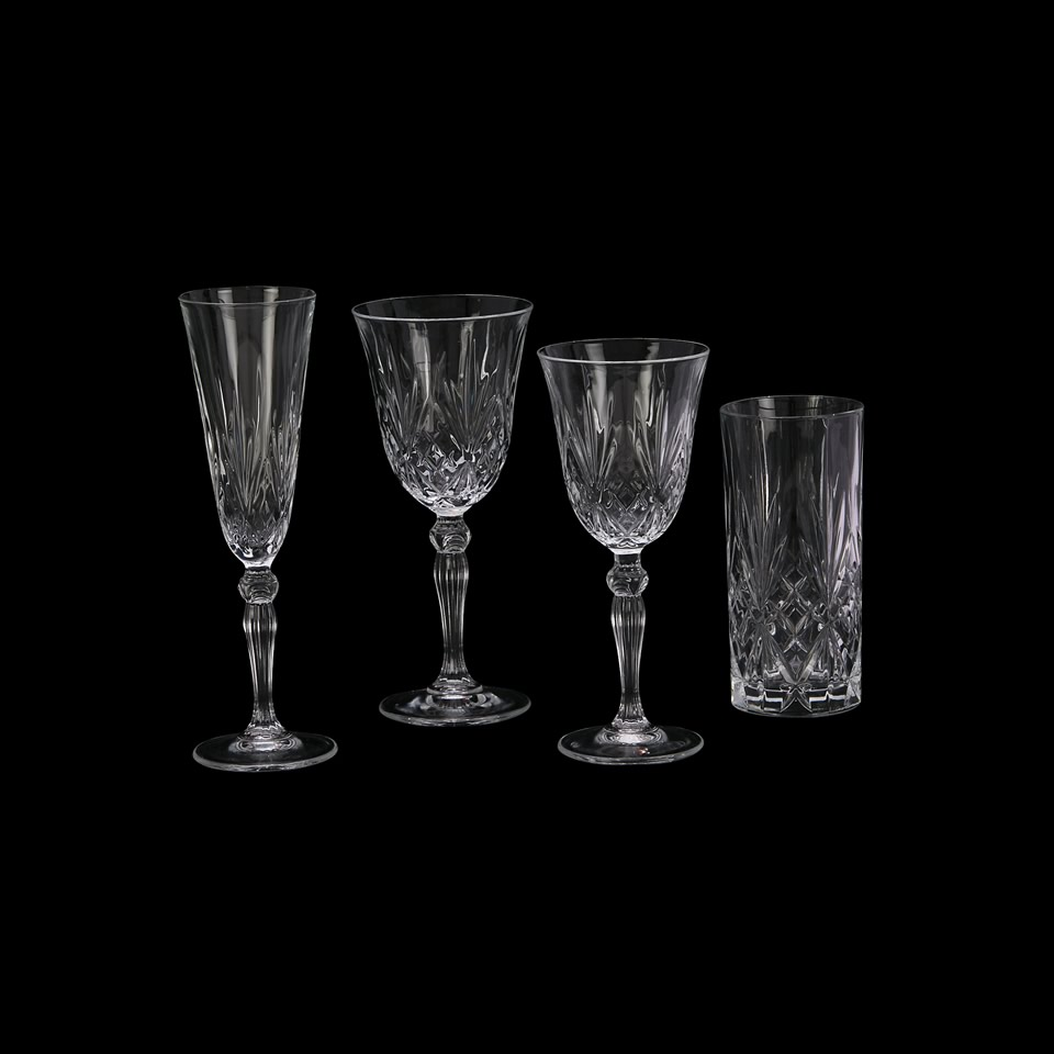 Grace Etched Glass Stemware  A Chair Affair Inc