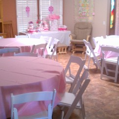 Rental Chairs For Baby Shower Chiavari Chair Alternative Tables Pink Linens Royalty Rentals