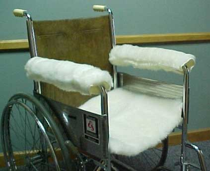 Wool Wheelchair  Chair Armrest Covers