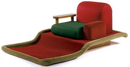 Flying Carpet Armchair by Ettore Sottsass