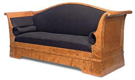 Biedemeier-Satin-Birch-Sofa-at-Christie's