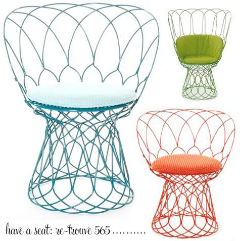 565 Wired Chair by Patricia Urquoila