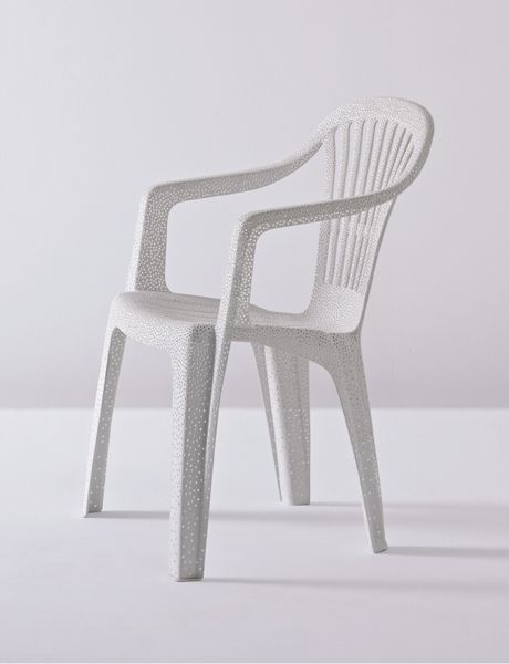 Perforated Mono-bloc Plastic Chair by Tina Roeder 2009