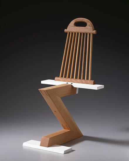 Rietveld Zig Zag Variation 15 - Thong Chair by Garry Knox Bennett