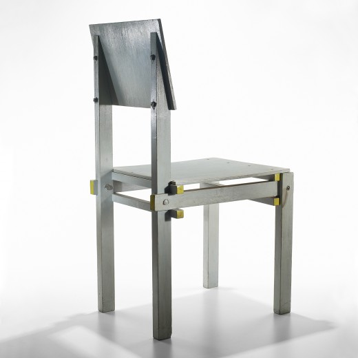Military Chair by Gerrit Rietveld at Wright sideview