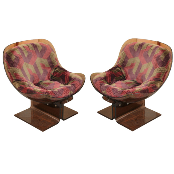 Two Armchairs by Boris Tabacoff