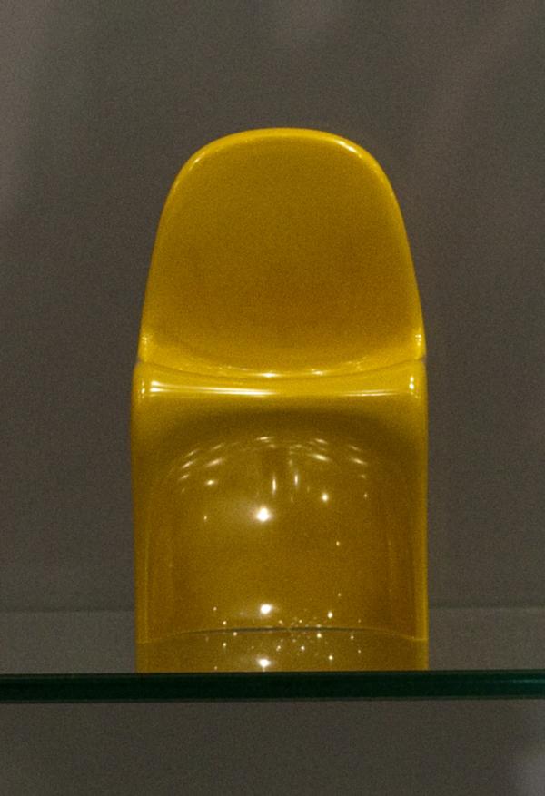 Yellow mini Panton Chair by Verner Panton