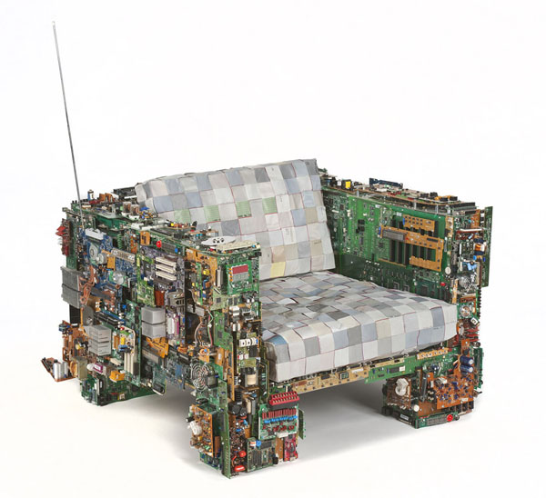 Binary Chair by Benjamin Rollins Caldwell Side