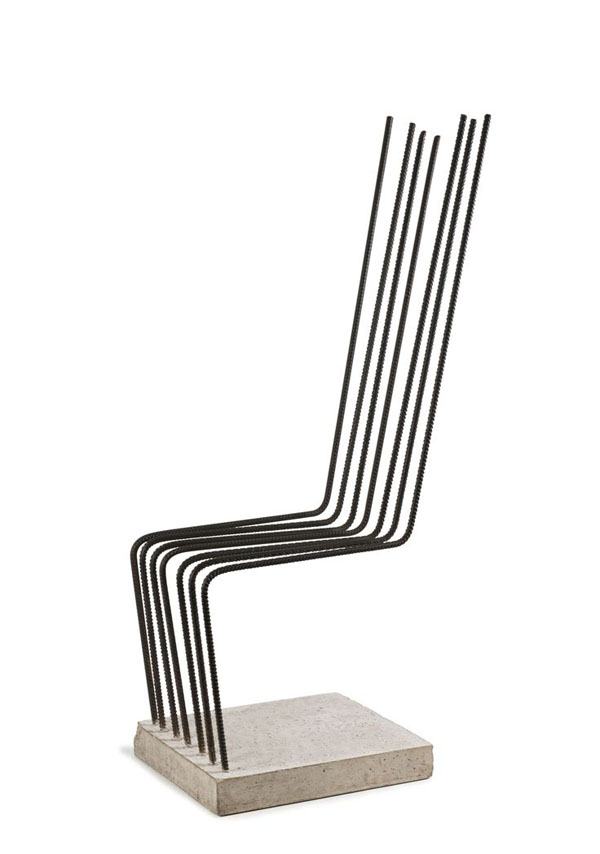concrete and rebar chair by Heinz H. Landes