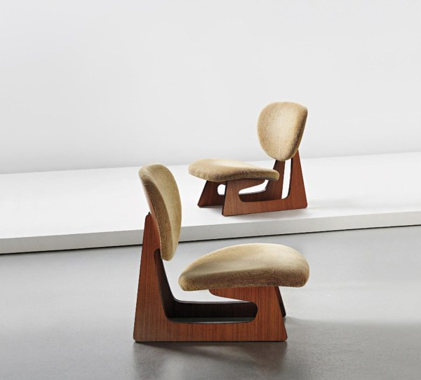Junzo Sakakura, Pair of lounge chairs, model no 5016
