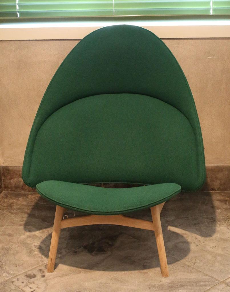 Green Tub Chair by Hans Wegner