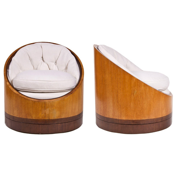 Pair of Paul Tuttle Barrel Chairs
