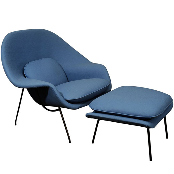 Blue Womb Chair by Eero Saarinen via 1rstbids