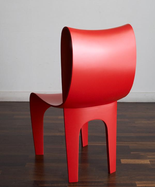 Contour Chair by Bodo Sperlein Red