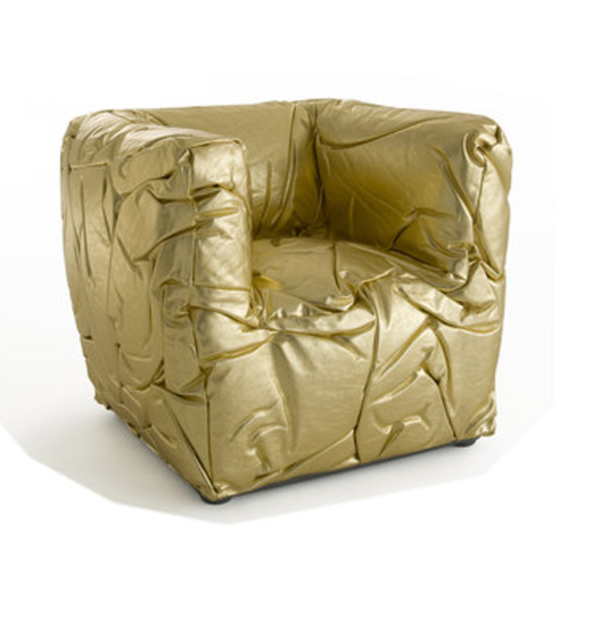 Golden Sponge Chair by Peter Traag