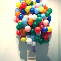 Chair With Balloons Massage Store Leg Less Held Up Chairblog Eu