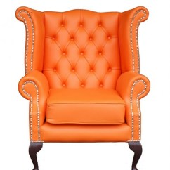 Orange Dining Chairs Uk Pool Chair Dimensions Chesterfield Wing - Chairblog.eu