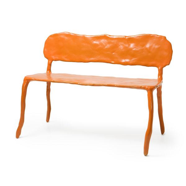 Orange Clay Bench by Maarten Baas