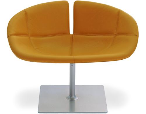 Orange Fjord Swivel Chair by Patricia Urquiola