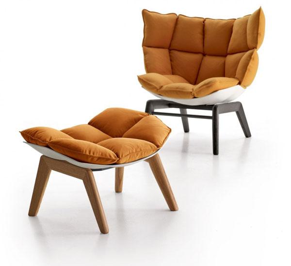 Orange Husk Chair by Patricia Urquiola