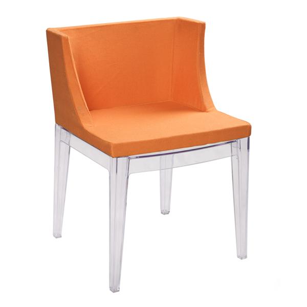 Orange Mademoiselle Chair by Philippe Starck for Kartell