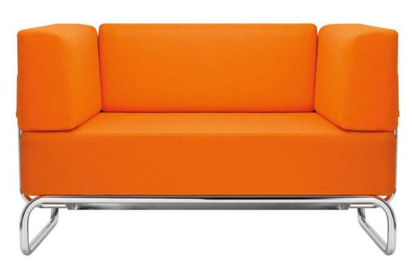 Orange S5001 Sofa by James Irvine for Thonet