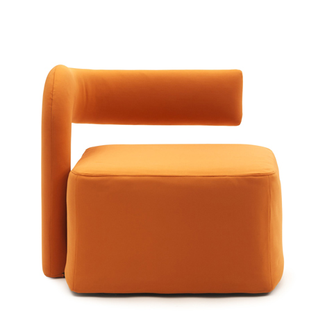 Orange Virgola by Giulio Manzoni  front view