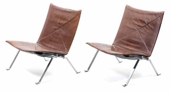 Pair-of-PK-22-Lounge-Chairs-by-Poul-Kjaerholm