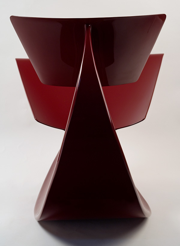 Red Rocker by Vivian Beer Back View