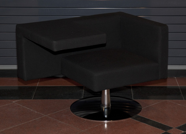Solitaire Chair by Alfredo Haeberli in Black