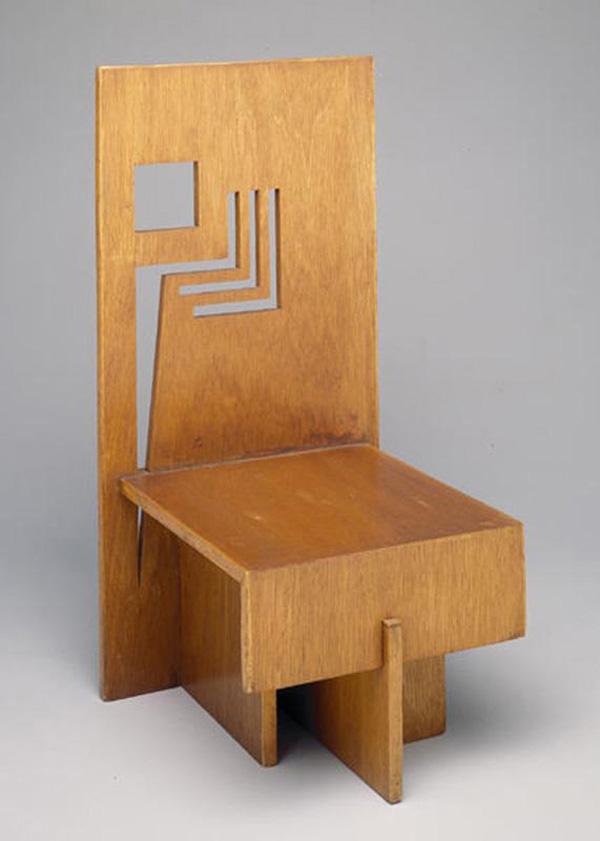 Trier House side chair by Frank Lloyd Wright