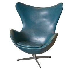 Jacobsen Egg Chair Leather Folding In Ahmedabad Vintage Arne Original Bluish
