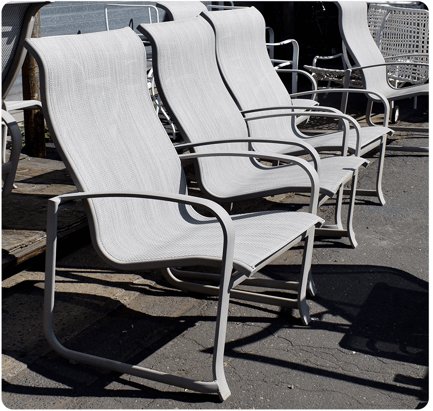 sling replacement for patio chairs chair design in wood repair furniture restoration fabric