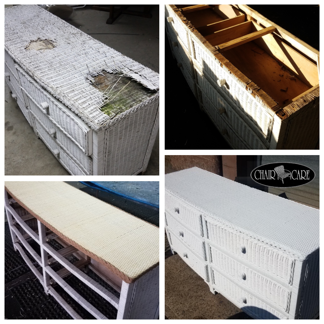 Wicker Dresser Restoration