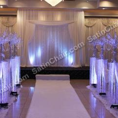 Banquet Chair Covers Rent Hickory Side Tables Ceremony Decor – In Chicago | Event By Satin