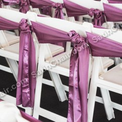 Folding Chair Sashes Target Card Table And Chairs Ceremony Decor Rent In Chicago Event By Satin Rental Garden White Wedding Outdoor