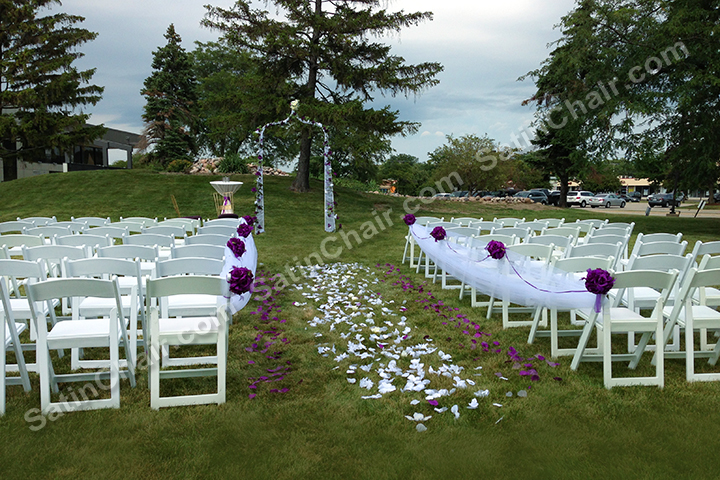 banquet chair covers for rent big and tall executive ceremony decor – in chicago   event by satin