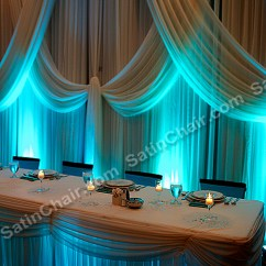 Rent Chair Covers In Chicago Vanity Stool Backdrops – And Suburbs | Event Decor By Satin